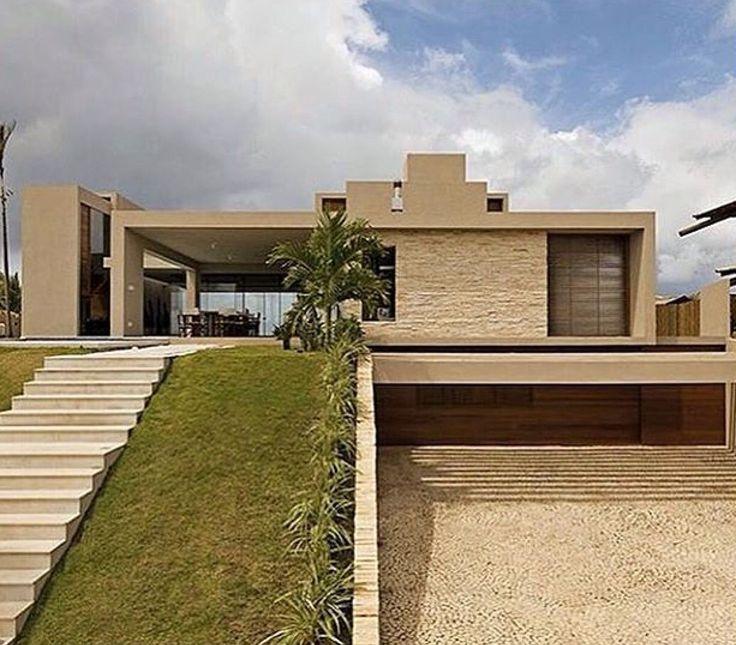 Casa t rrea com garagem subterr nea casas pinterest for Casa moderna 90m2