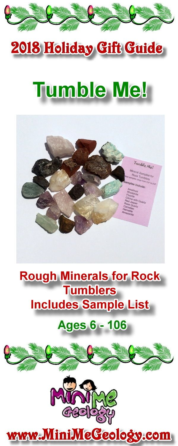 Refill your rock tumblers with great mineral samples. Our Tumble Me kit has  a variety of minerals with different sizes and colors… | Holiday Gift Guide  ...