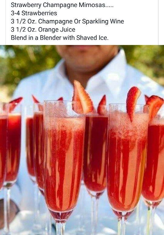 Strawberry Champagne Mamosa