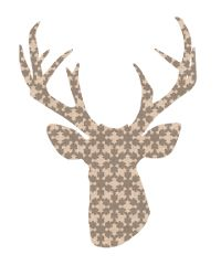 thumbnail deer silhouette taupe snowflakes; lots of other color and pattern options