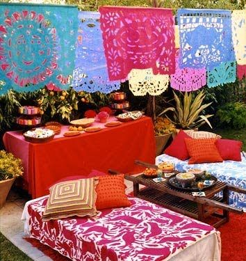 mexican patio ideas bright colors photo from domino magazine
