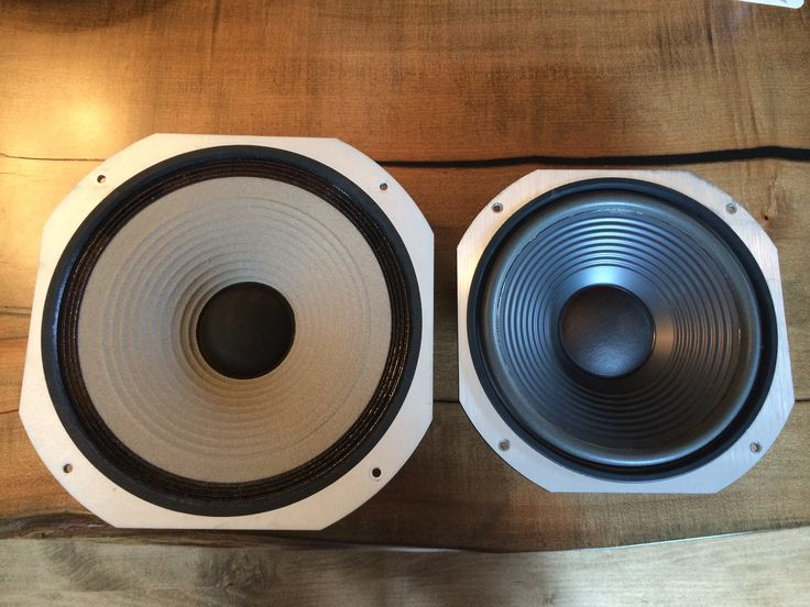 Face view of HPM 100 vs S 1010 woofer