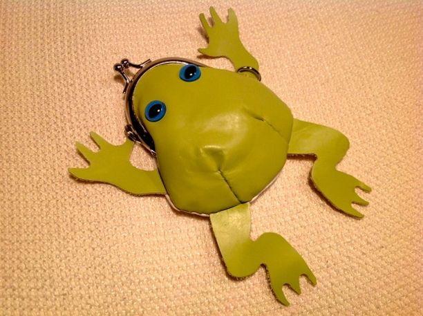 カエルのがま口 青い目のアマガエル#297画像1
