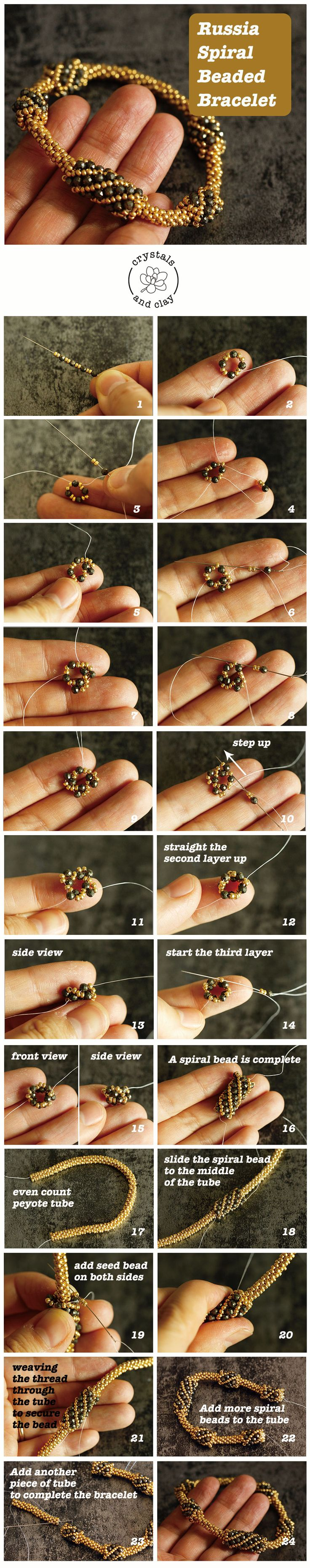 How to make a beaded spiral bracelet – beads