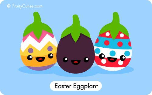 Easter eggplant.
