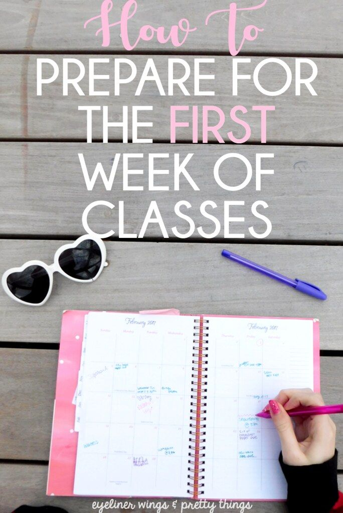 How you can Put together for The First Week of Lessons – ew & pt