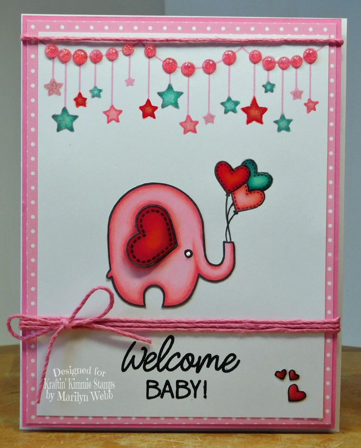 Designed by Marilyn Webb featuring the stamp Baby Love from http://www.kraftinkimmiestamps.com/