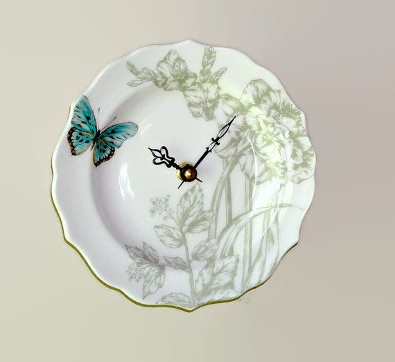 Small Wall Clock 6-1/2 SILENT Sage Turquoise by MakingTimeTC