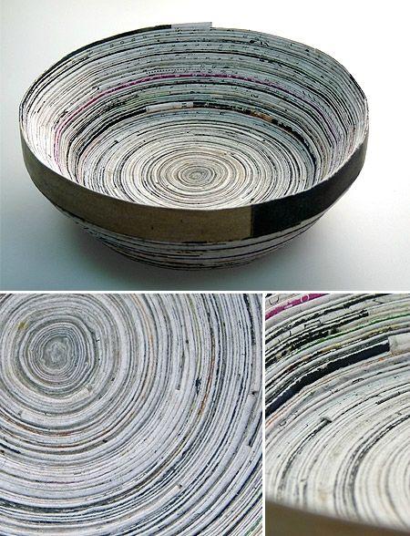 Corbeille en papier enroulé - Re Créa Tinou
