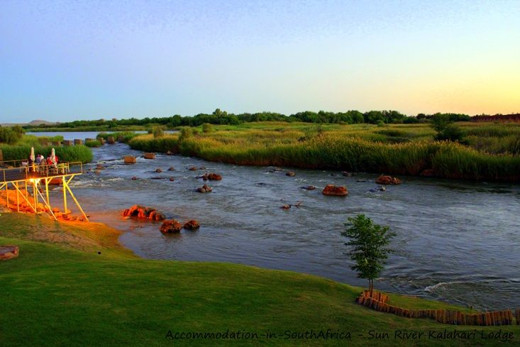 The mighty Orange River at Sun River Kalahari Lodge. http://www.accommodation-in-southafrica.co.za/NorthernCape/Upington/SunRiverKalahariLodge.aspx