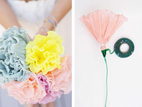 DIY crepe paper flowers
