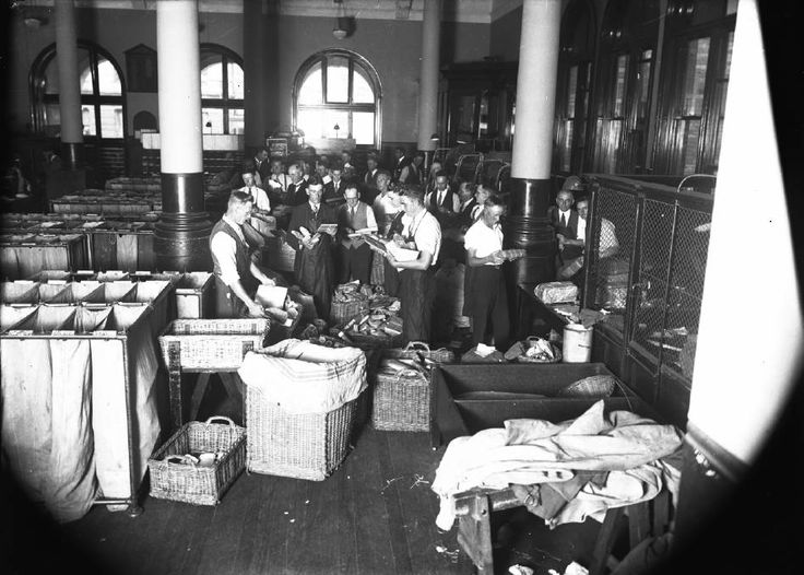 The interior of Newcastle's old post office is likely to have been from taken in 1923 or 1924, Bernard Doherty suggests.
