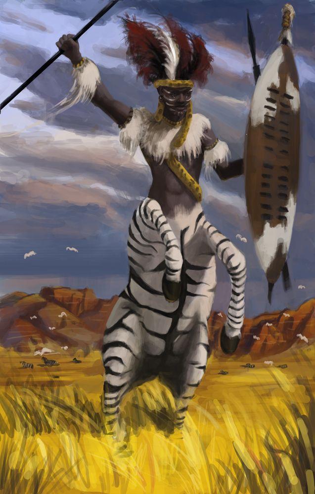 Zebra Paintings African Centaur Nature Hd Wallpaper