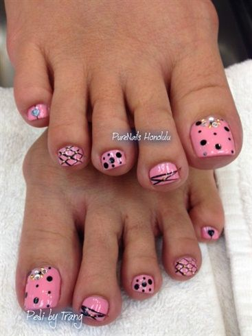 Pink Pedicure by TrumpGelUSA from Nail Art Gallery