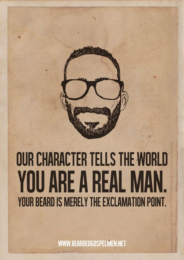 Beard Quotes Posters 1 A Beard Man is a Real Man Quotes
