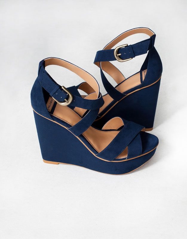 CROSSOVER STRAP WEDGES - WOMEN'S SHOES - SHOES