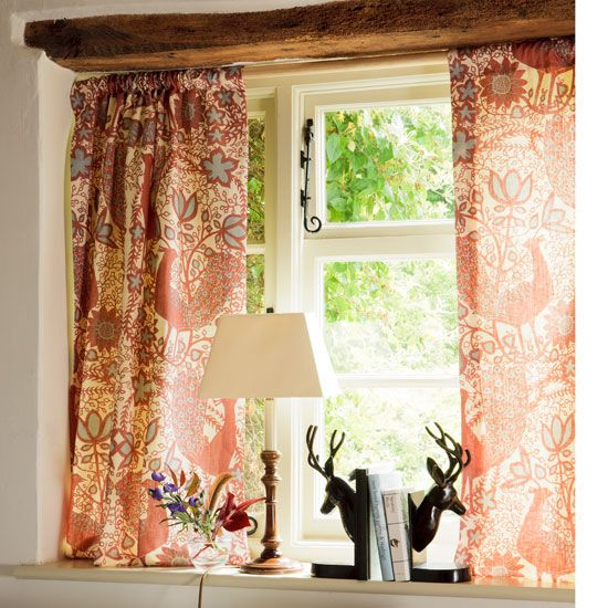 Dress a cottage window   curtains   country   Country Homes & Interiors