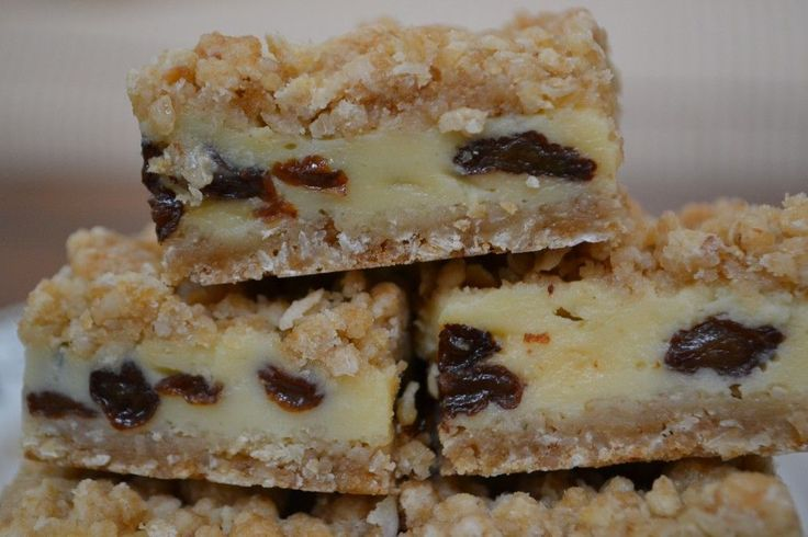 Two Chicks from the Sticks - Sour Cream Raisin Bars- will make these for my DAD