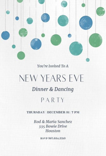 Free Printable New Year S Eve Invitation Templates Greetings Island Newyear Newyeareve Newyeve Nye Newyearinvtations Newyearcards
