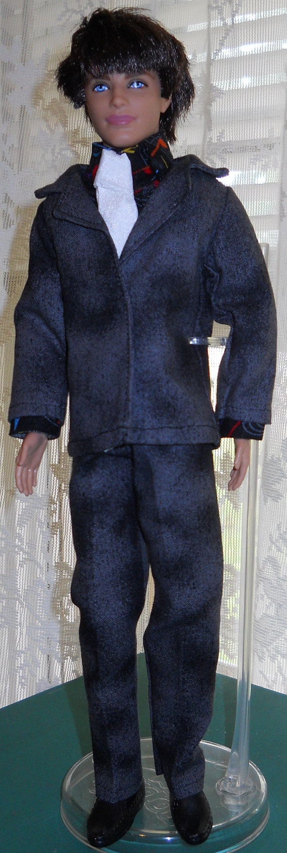Handmade Ken 3 piece suit with tie by AuntieLousCrafts on Etsy, $10.00