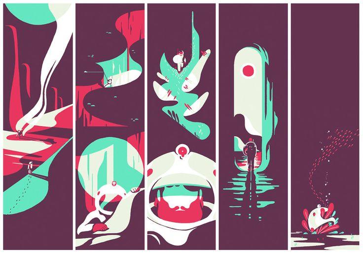 Tom Haugomat - La planète Edition limitée en sérigraphie Tiphaine-illustration   #silkscreen #theplanet