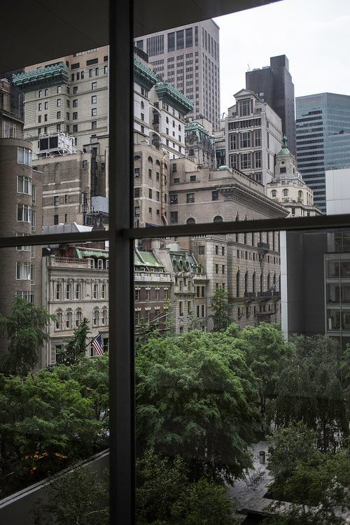 NYC: Cityscape and MoMa's Garden, view from the Museum...