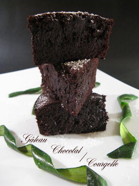 J'en reprendrai bien un bout...: Gâteau Chocolat/Courgette (sans gluten et sans lactose)
