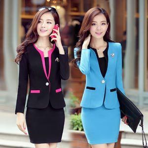 2014 Winter New Coming Korean style Blazers for Office Lady Slim Fit Multi-Colored Fashion Elegant Womenoffice Skirt Suits