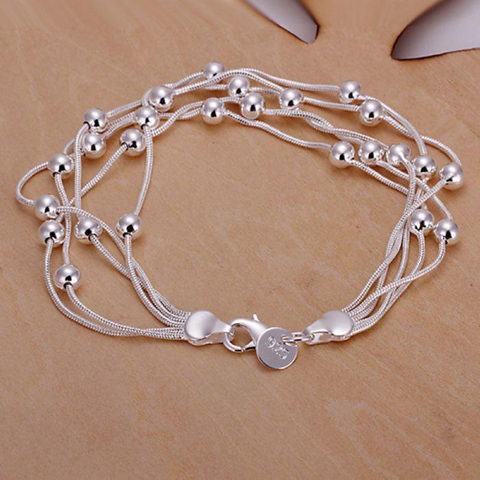 925 jóias de prata banhado jóias pulseira fina pulseira moda de qualidade top SMTH234 atacado e varejo