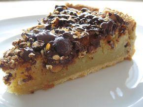 Mazarintærte med havregryn og nødder