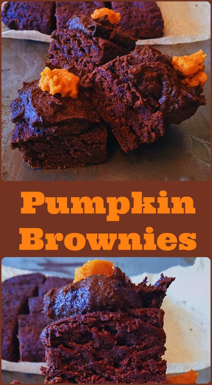 Decadent AND good for you Pumpkin brownies. The perfect Autumn treat!