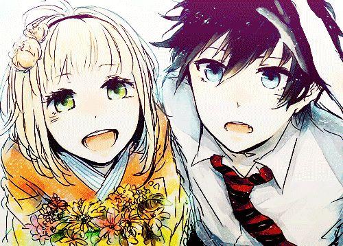 Ao No Exorcist Rin and Shiemi Kiss | Rin & Shiemi.