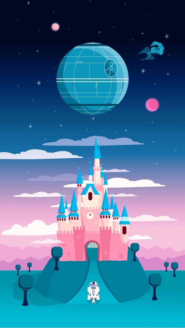 Disney Castle Wallpaper Star Wars Wallpaper Iphone Cute