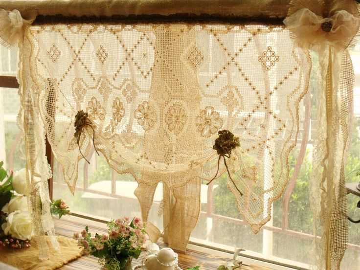Curtains Ideas cream burlap curtains : 17 Best images about Window treatments on Pinterest | Tie up ...