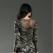 Fashion Brand t Shirt Women Long Sleeve Cotton Shirt Women Camouflage Slim Tops Casual O neck Women tshirt and Sex Wear GS-8366B(China (Mainland))