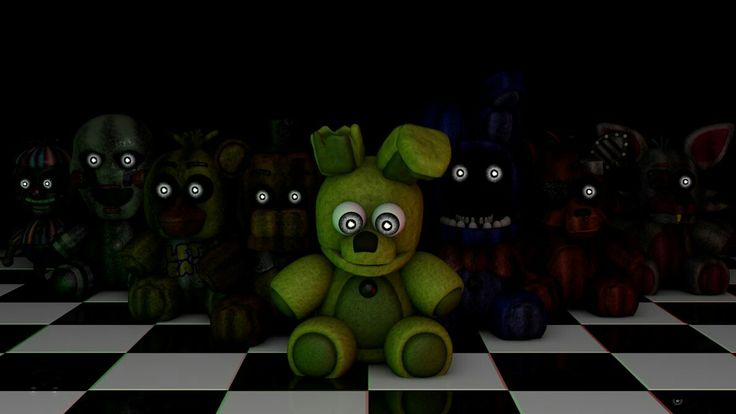 SO CUTE SPRINGTRAP :3 I love springtrap and the puppet and purple guy I hate mangle and fun time foxy and bonnie