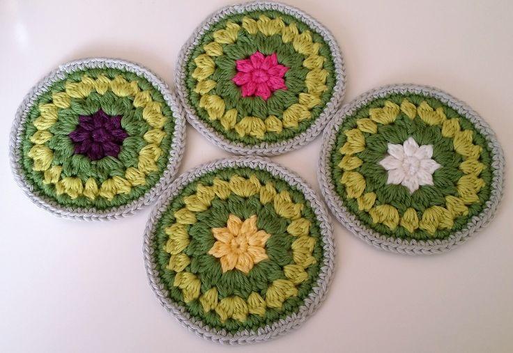 Crochet coasters Stylecraft Classic Cotton dk Rico Baby Cotton Soft dk by Dolly Bobbins