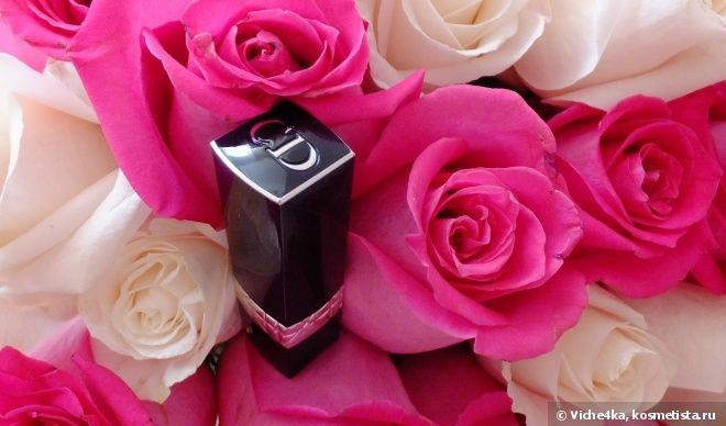 Моя первая яркая помада Dior Rouge Dior Couture Color Voluptuous Care Lipstick № 775 Darling