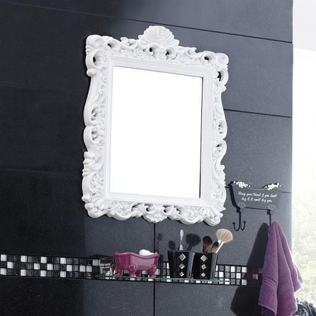 White Ormolu Highlife Mirror | Dunelm