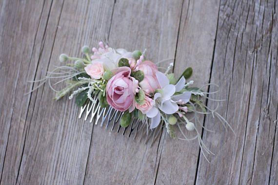 Flower hair comb floral hair comb