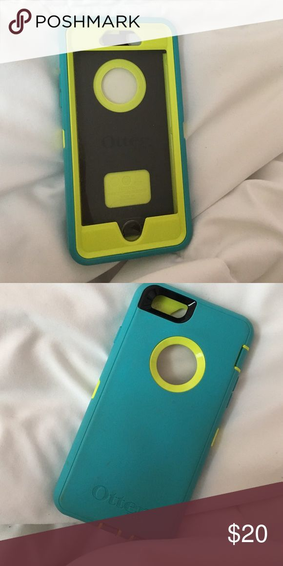 iPhone 6/6s Otter Box phone case Blue and green otter box case. Very protective, good condition other than it being dirty. I can't seem to get the stains out of the back. OtterBox Accessories Phone Cases