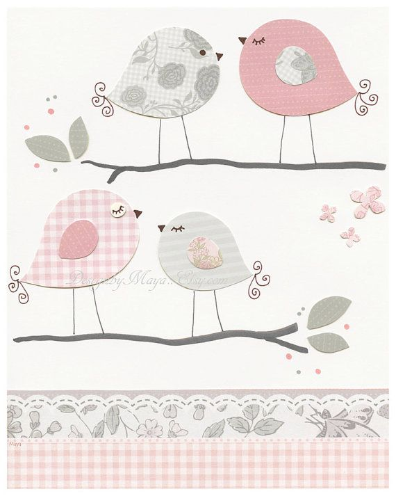 Baby Girl Nursery Decor Girl Nursery Art Nursery by DesignByMaya, $50.00