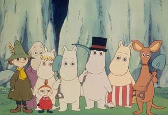 Moomin. Eccentric Finnish hippopotamus looking like trolls. Who can't get behind that?