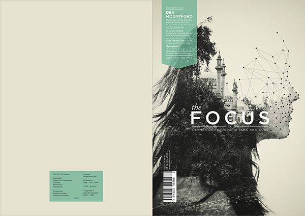 Revista - Magazine by Pia Vega, via Behance. Unusual to contain the text on a mag cover. Cool illustration.