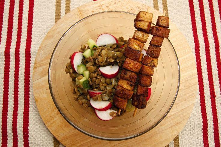 meat free I. day : čočkový salát s #tofu