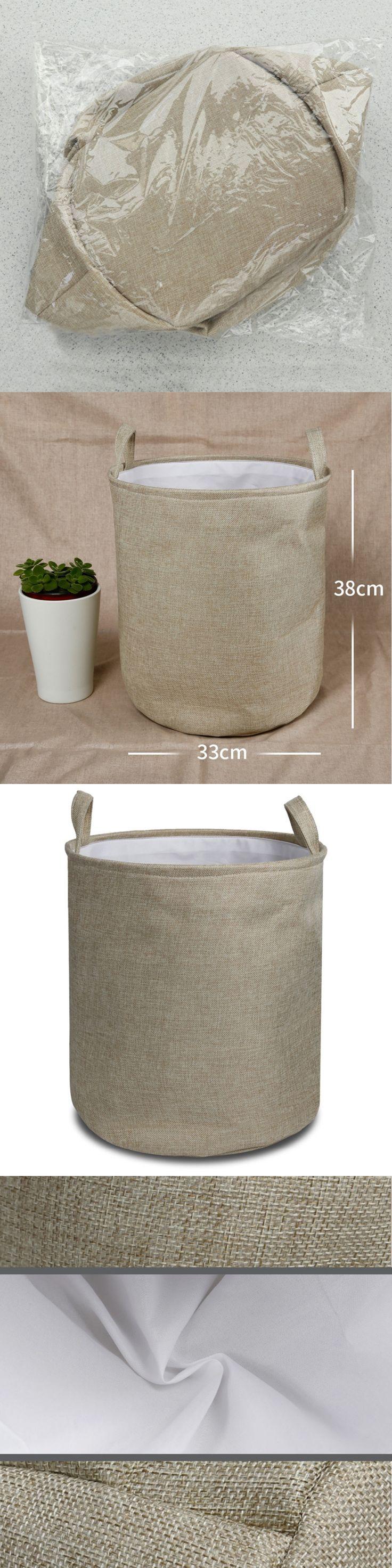 Giftgarden Large Laundry Basket 80% cotton with PE Waterproof Folding Washing Bin Lightweight Sturdy Toy Storage