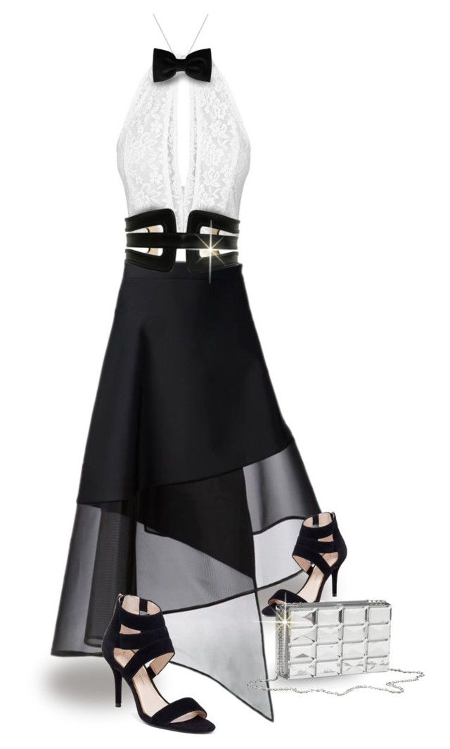 """""""New Year's Eve (Skirt & Top)"""" by house-of-the-black-smith ❤ liked on Polyvore featuring Balmain, Jessica Simpson and Fendi"""