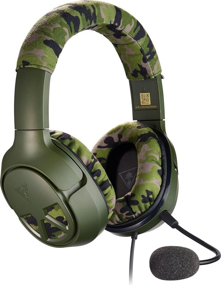 Turtle Beach - EAR Force Recon Camo Wired Stereo Gaming Headset for PS4 PRO, PS4, Xbox One, PC, Mac and Mobile/Tablet Devices - Camoflauge