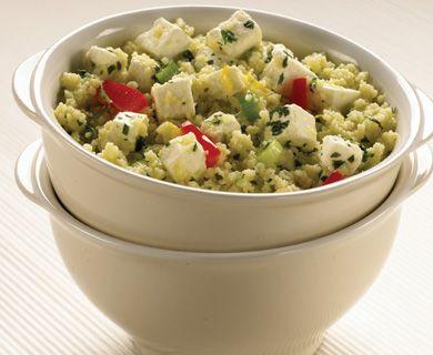 Fetalicious Couscous Salad with Tre Stelle® Feta #salad #sidedish #couscous #recipe