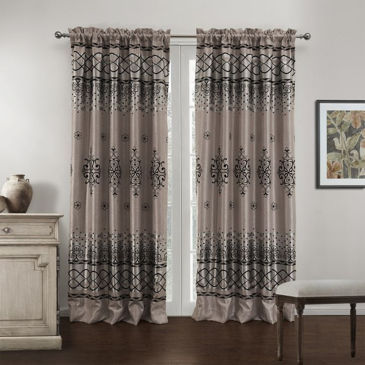 Novelty Mediterranean Grey Blackout Curtains  #curtains #decor #homedecor #homeinterior #grey